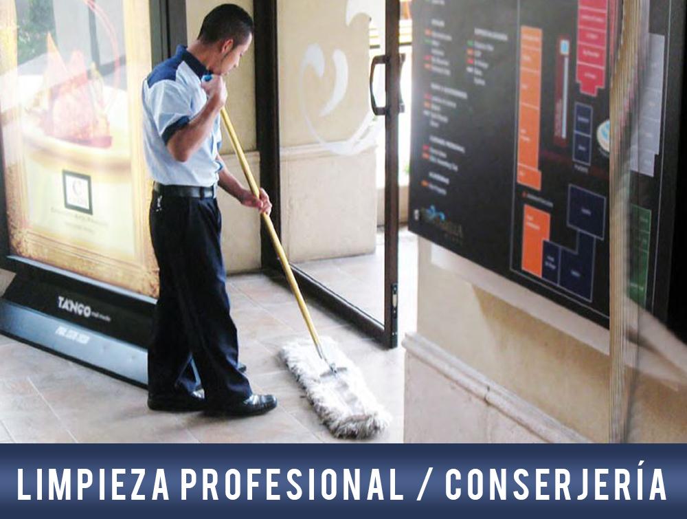 Limpieza profesional conserjería
