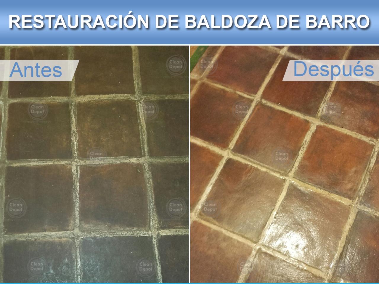 Demostración antes y después piso