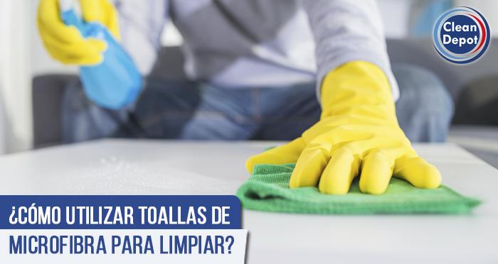 ¿Cómo utilizar toallas de microfibra para limpiar?
