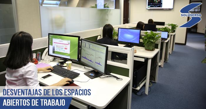 Desventajas de los espacios abiertos de trabajo